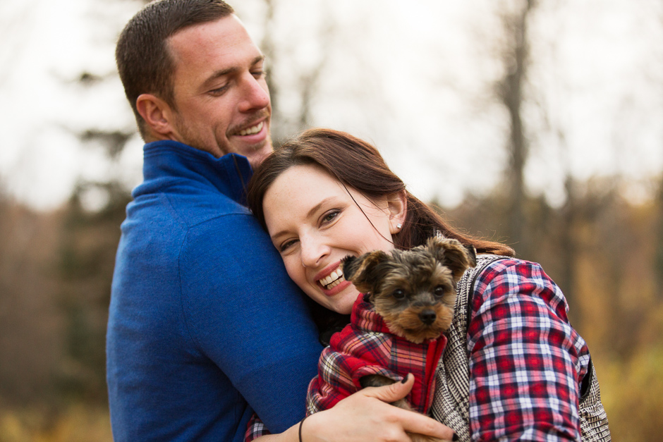 A Couple and Their Puppy | Anchorage Dog Photographer | Marilyn Jeffers Photography