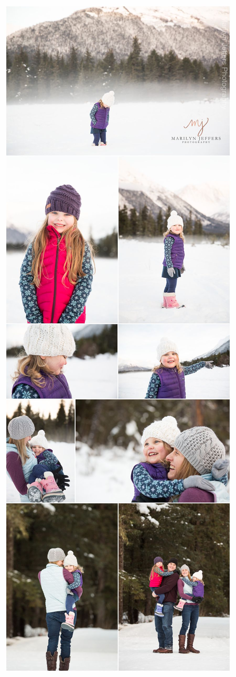 Alaska Winter Family Photographs