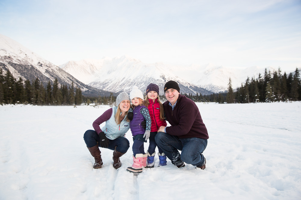 Winter Family Photos in the Mountains | Anchorage & Girdwood Mountain Family Photos | Marilyn Jeffers Photography