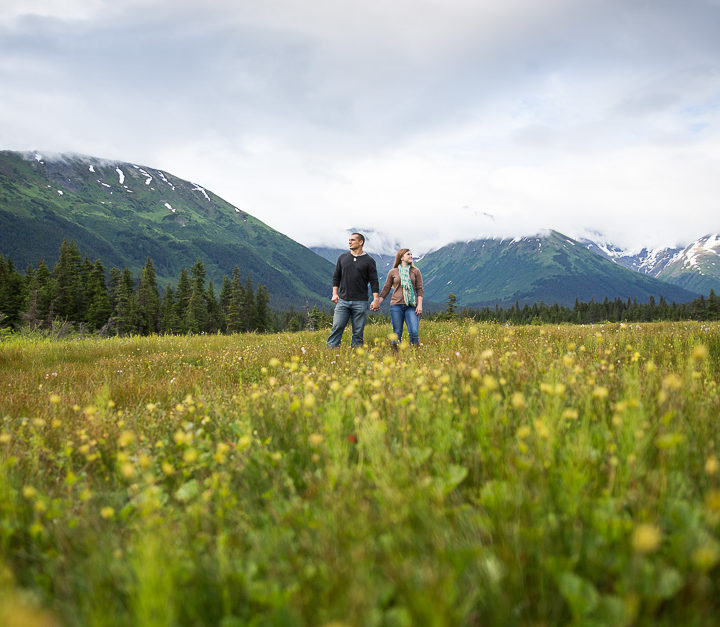 Engagement Photographs in Alaska | Anchorage & Girdwood Engagement Photographer | Marilyn Jeffers Photography