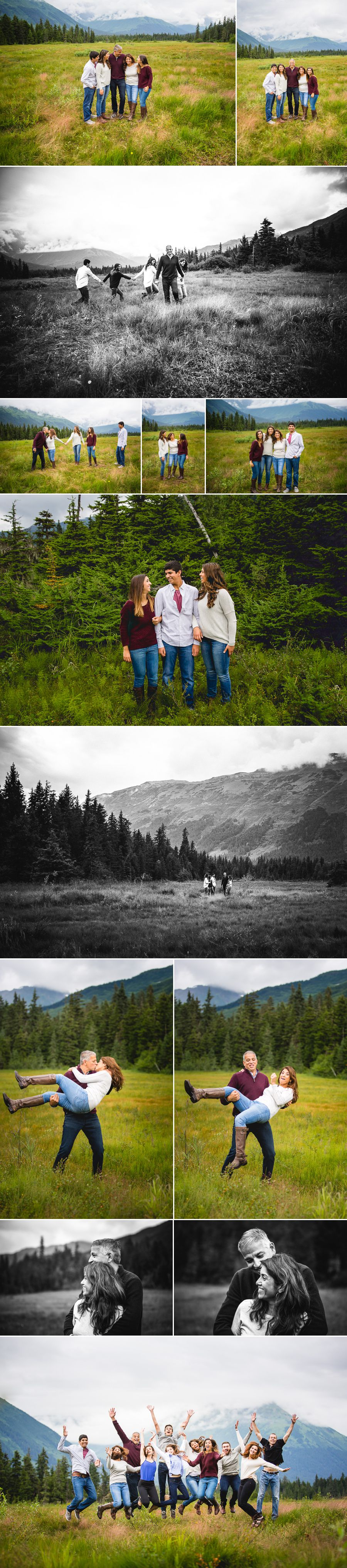 Alaska Vacation Family Photos
